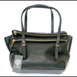 Vince Camuto Black Pebbled Leather Handbag VC-FAYE